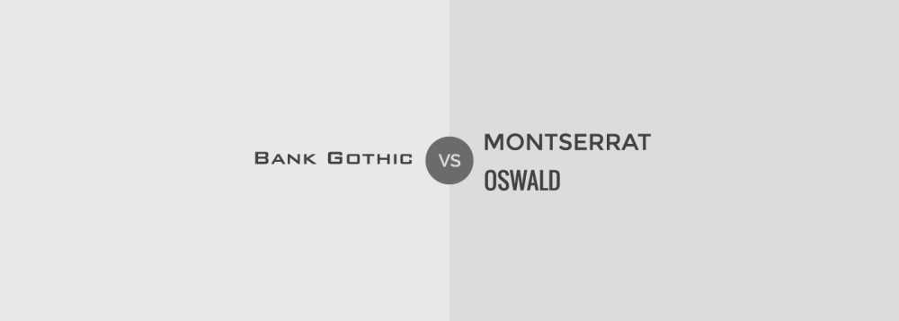 Tipografia no debes usar: Bank Gothic
