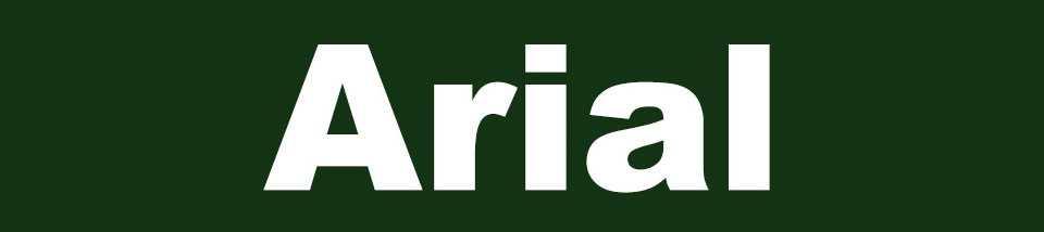 Tipografía odiada Arial