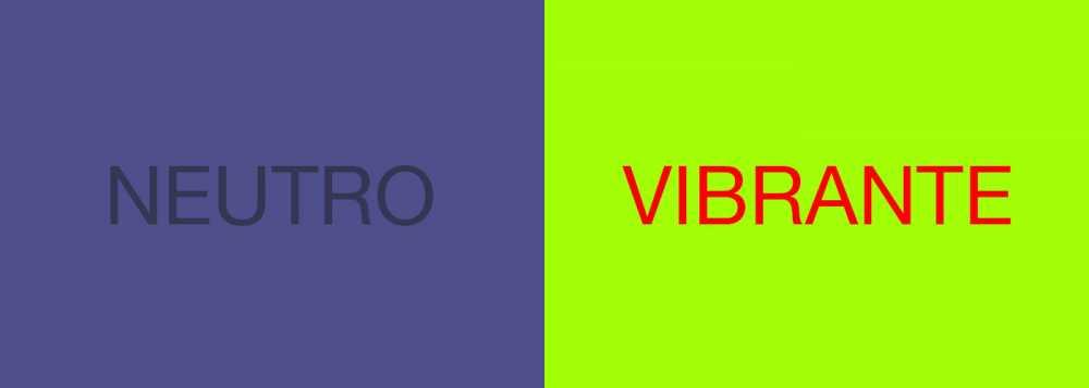 Diseño web con colores demasiado vibrantes o neutros