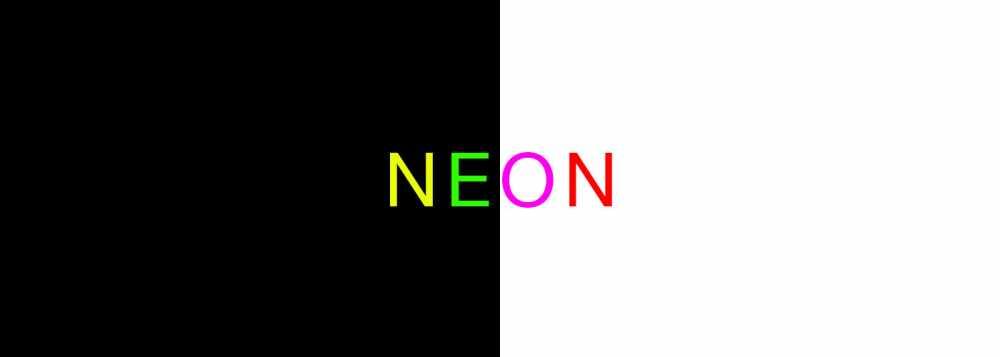 Diseño web con colores neón