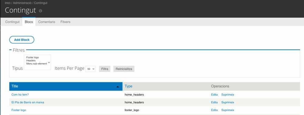 Bloques con campos personalizados en Drupal 7