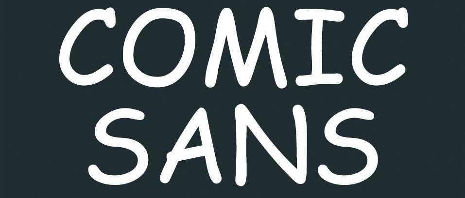Tipografía odiada Comic Sans