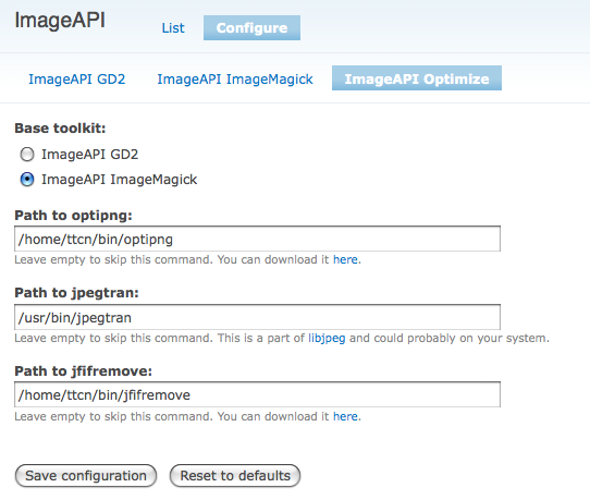 Módulo Drupal Image API Optimize