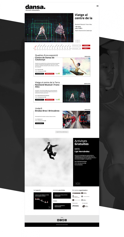 Proyecto web Dansa Quinzena Metropolitana