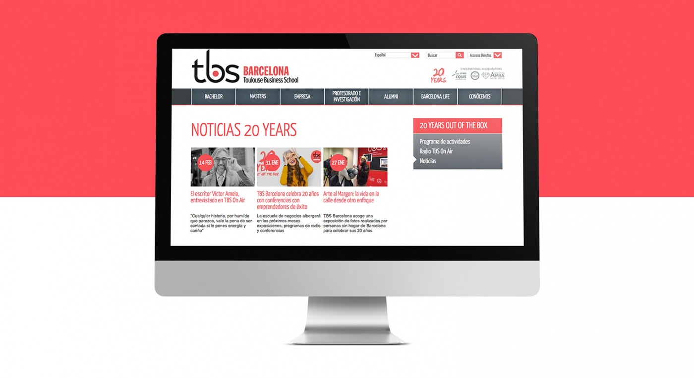 TBS 20 años Out of the box